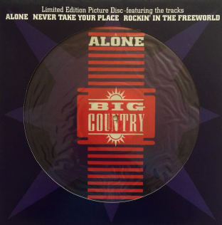 "Big Country - Alone (12"") (Picture Disc) (EX/VG+)"